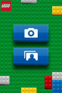 iPhone APP LEGO Photo User Interface (Screenshot)
