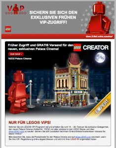 LEGO SET 10232 Palace Cinema im VIP Newsletter (Feb. 2013)
