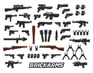 Verschiedene Brickarms Waffen