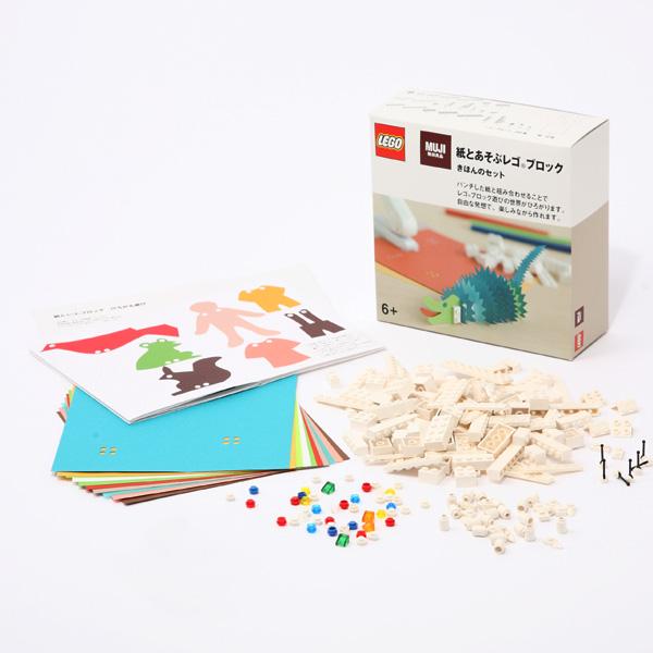 Papierstanze von MUJI, um für LEGO-Steine passende Löcher in Papier zu stanzen.