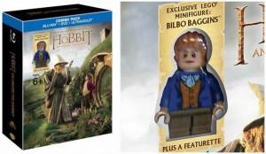 Box der Filmsammlung und Nahaufnahme der Figur (von Lord of the Bricks)