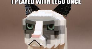 The Grumpy LEGO® Cat