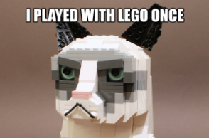 The Grumpy LEGO Cat