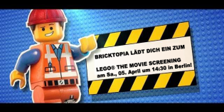 LEGO® THE MOVIE – Bricktopia lädt zum Screening am 5.4. in Berlin