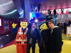 Emmet, Bane, Wyldstyle und Oliver im Sony Center