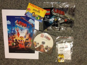 Swag vom LEGO The Movie Screening